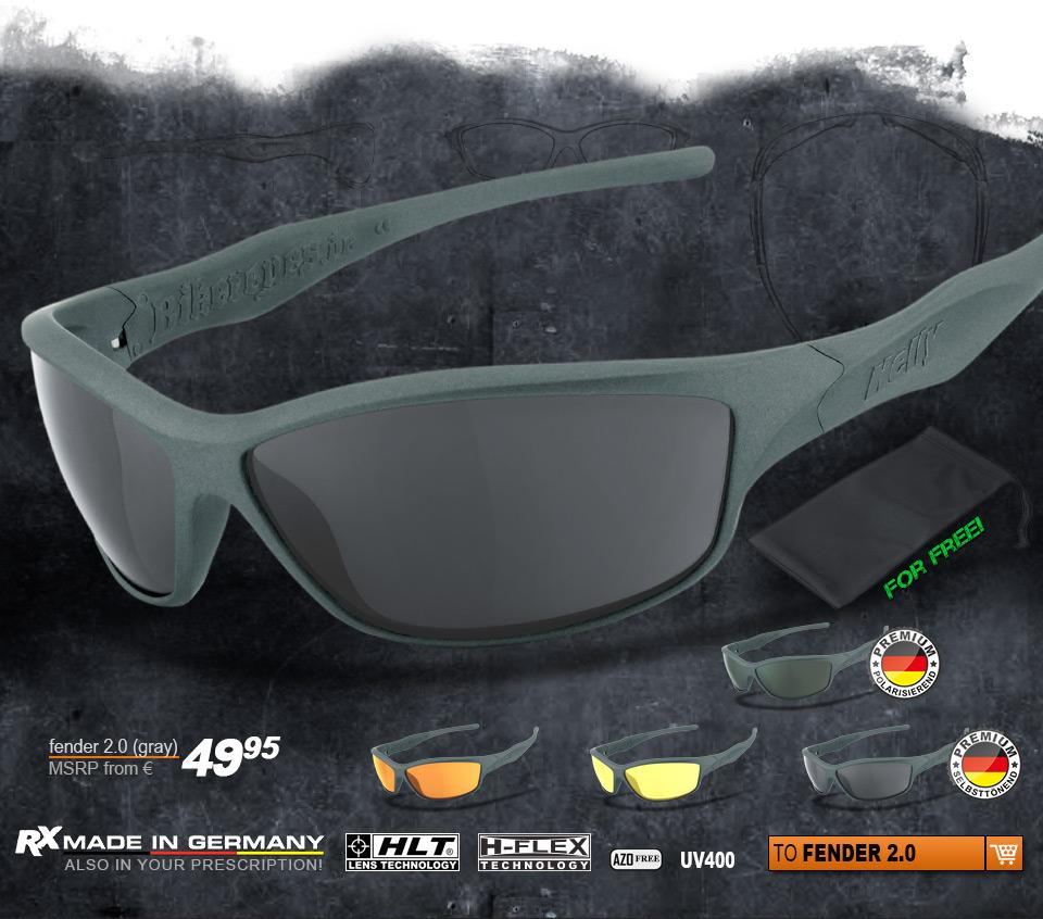 Helly Bikereyes - fender 2.0 (gray)